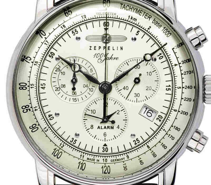 Elegantní hodinky s odkazem na tradici německé značky Zeppelin. Velký  ciferník klasického aviatického designu podtrhuje eleganci využitelnou k  běžnému ... b4441dbb689